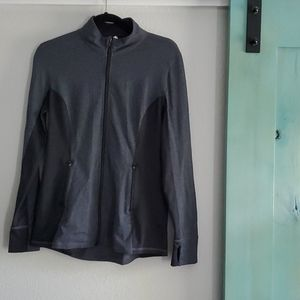 Women's Fitted Two Tone Athletic Zip Up Jacket